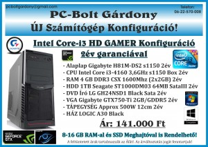 GAMER Konfig Intel Core-i3