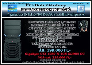 GAMER Konfig Intel i3-7100 2017-08-03